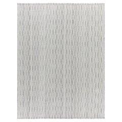 Mid-Century Modern Style Minimalist Charmo Spearhead Pattern Flatweave Rug