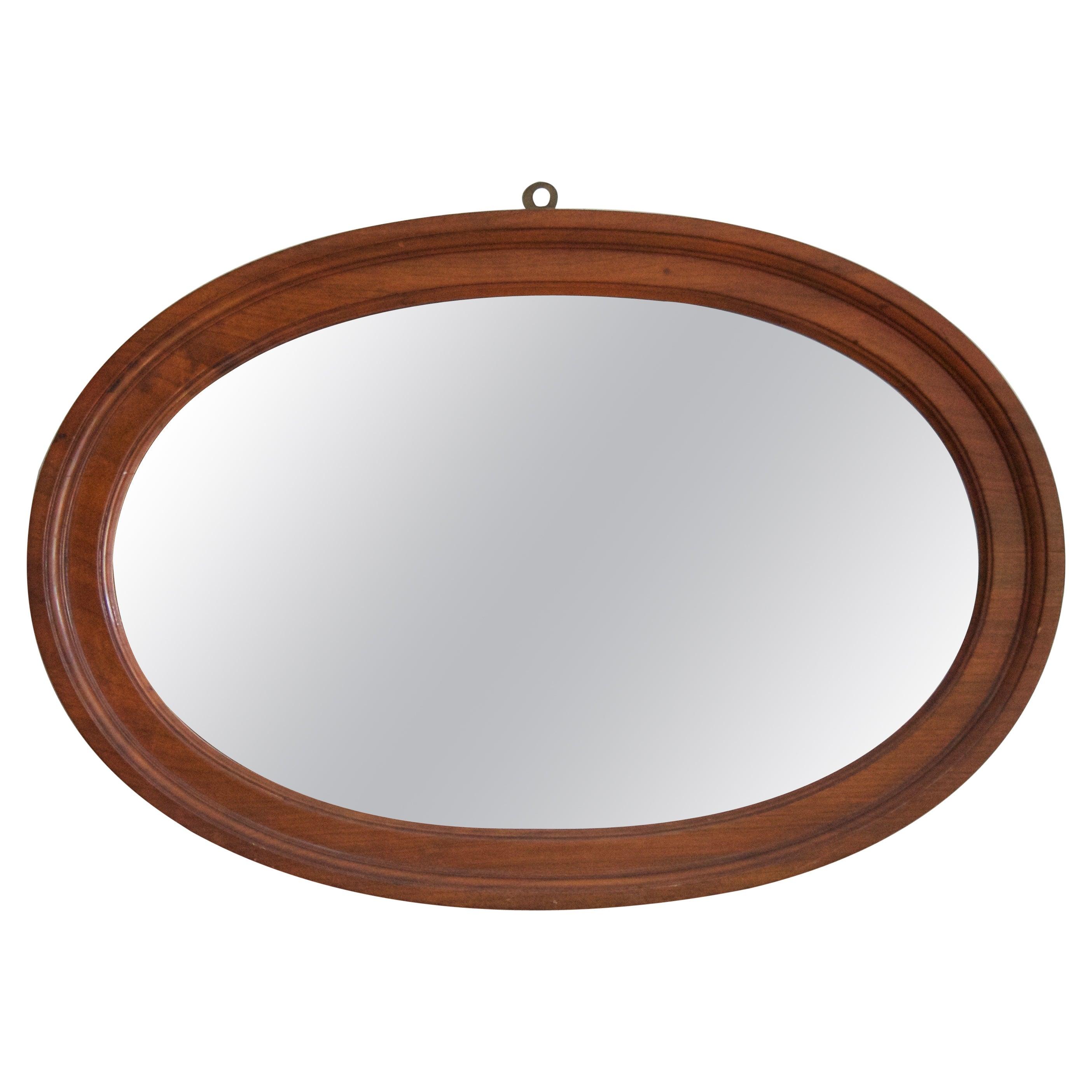 Swedish, Wall Mirror, Walnut, Mirror Glass, Sweden, C. 1930s