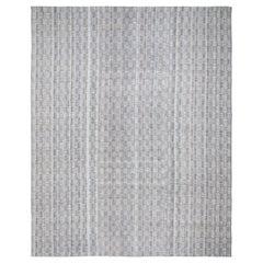 Mid-Century Modern Style Minimalist Pattern Charmo Flatweave Rug