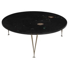 Hugh Acton Cocktail Table with Black Granite Top