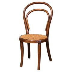 Early 20th Century French Bentwood and Cane Baby Chair Thonet Style