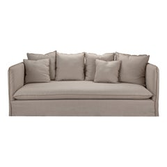 Super Comfortable Slip-on 3-Seater Sofa with Modern Upholstery Detailing