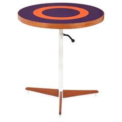 Petter Pepper Products Adjustable Tripod Teak & Purple Side Table
