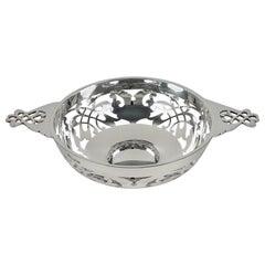 Sterling Silver Pierced Quaich, Edward & Sons, 1926