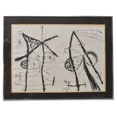Joan Miro Le Courtesans' Grotesque II Limited Edition 7/15, circa 1974