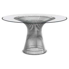 Warren Platner Collection Dining Table Base, Polished Nickel, Knoll, 1966
