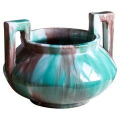 Gustaf Ahlberg, Vase, Glazed Earthenware, Höganäs, circa 1930s