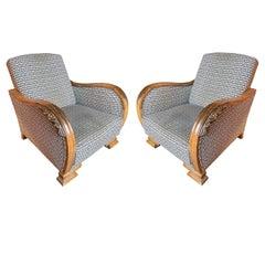 Pair of Fine 1920´s Elegant Art Deco Unique Swedish Armchairs