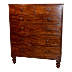 19th Century Flame Mahogany Chest of Drawers