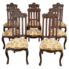 Set of 8 Antique Liegoise Dining Chairs