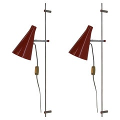 Rare Set of Two Wall Lamps by Josef Hurka, 1960s