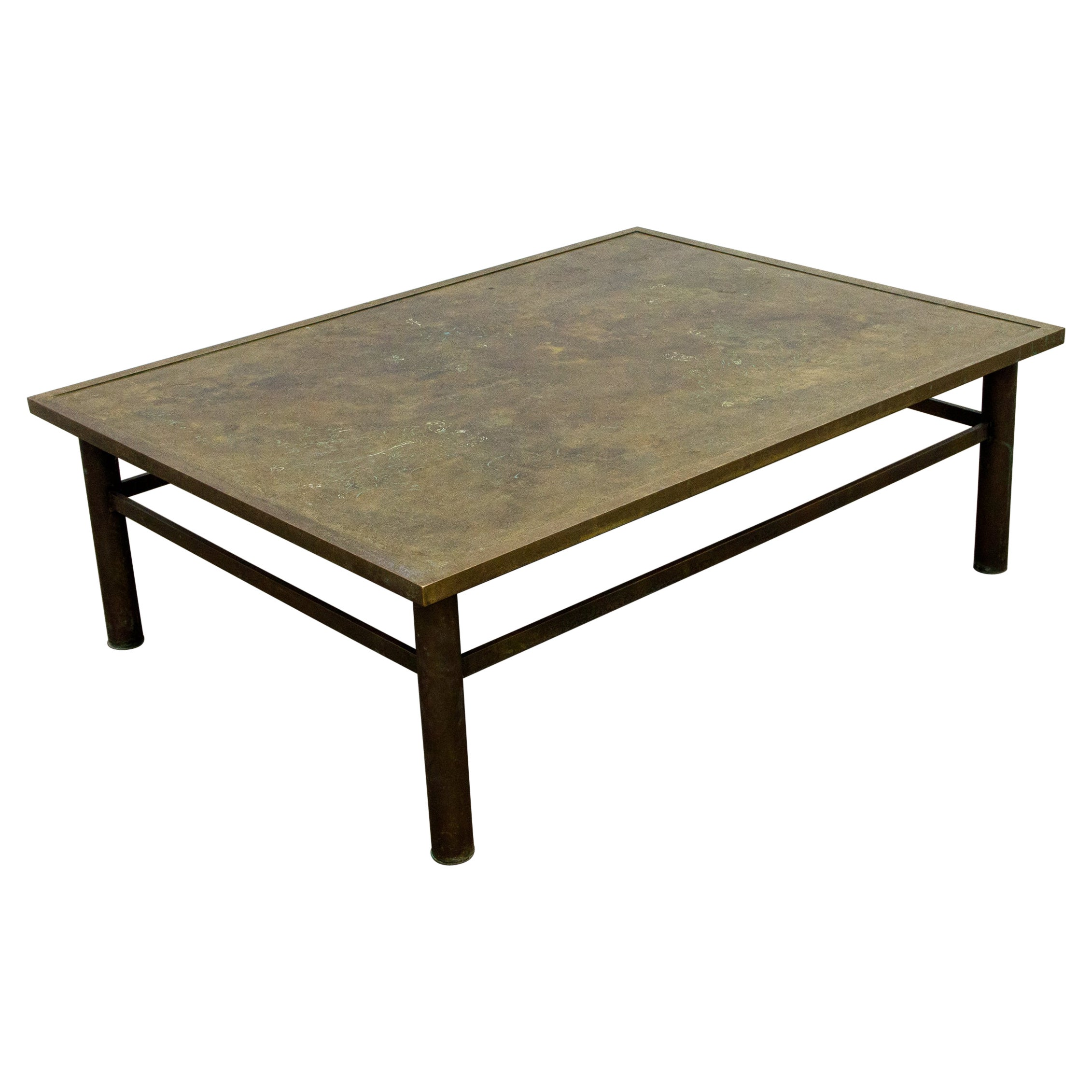 Bronze 'Classical' Cocktail Table by Philip & Kelvin LaVerne, 1960s, Signed