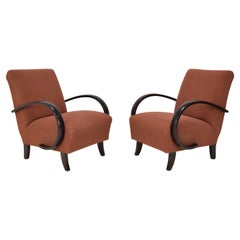 Pair of Mid-Century Design Armchairs by Jindrich Halabala, 1950's