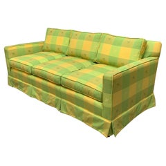 Vintage Plaid Sofa in the Style of Dorothy Draper