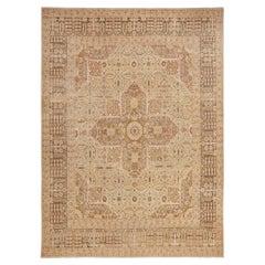 Room Size Antique Haji Jalili Tabriz Carpet