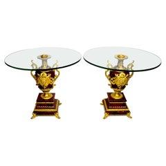 Ferdinand Barbedienne Pair of Marble & Ormolu Urn Low Tables