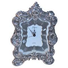 Signed GORHAM STERLING Silver Alarm Clock