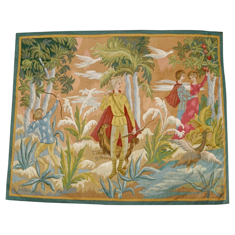 Belgian Figural Tapestry For Sale