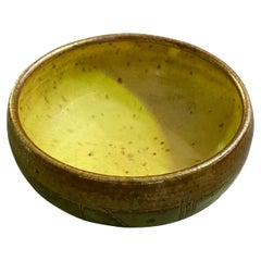 Warren MacKenzie Minnesota Artist Signed Midcentury Studio Pottery Ceramic Bowl