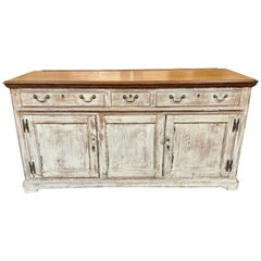 19th Century Country English Painted Oak Buffet