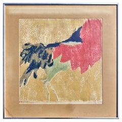 Abstract Modernist Woodcut Print by Sylvia Farrer-Bornath, Circa 1970
