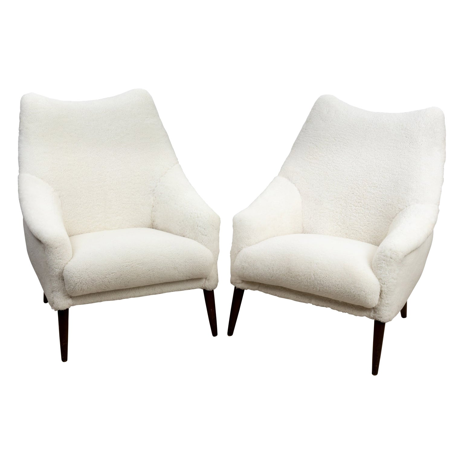 Pair of Shearling Chairs