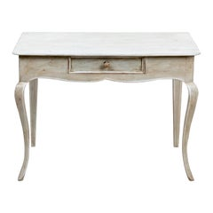 French Antique Painted Console or Desk