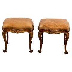 Pair of Rococo Style Footstools