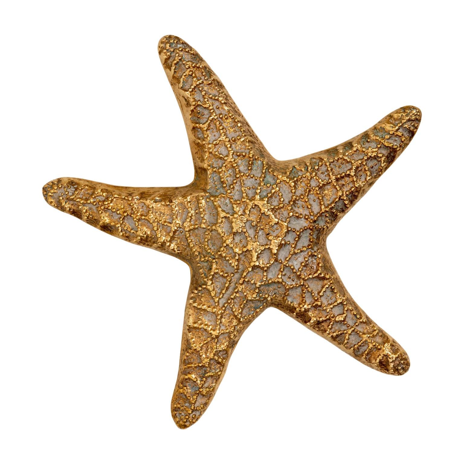 Hollywood Regency Brass Starfish