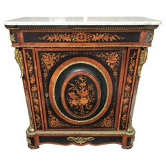 19th Century French Marquetry Side Cabinet