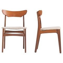 Set of 4 Danish Teak Dining Chairs for Schionning & Elgaard