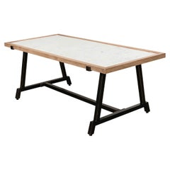 Modern Framed Marble Top Coffee Table