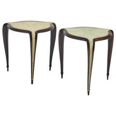 Pair of Shagreen and Rosewood Side Tables after Clement Rousseau