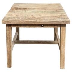 Teak Wood Rustic Side Table
