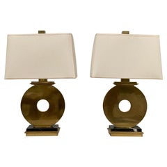 Pair of Brass Lamps by Robert Abbey