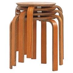 Bentwood Stool in the Style of Avlar Aalto for Artek