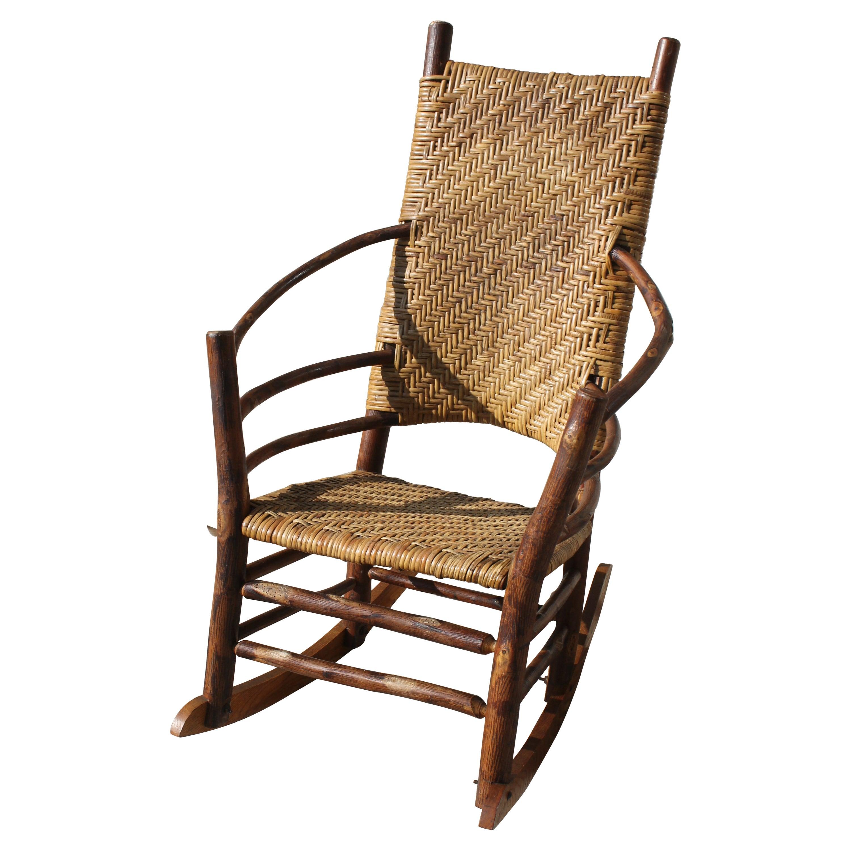 Old Hickory High Back- Barrel Back Rocking Chair