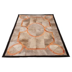 French Influence Cow Hide Rug