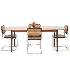 Teak Dining Table with Extension Leaves by Alf Aarseth for Gustav Bahus