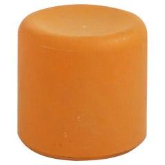 Fiberglass Stool in Orange-Yellow