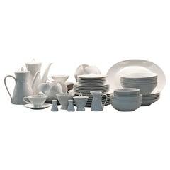 Rosenthal Form 2000 White Pattern Dinnerware - Raymond Loewy Set 70 Pcs Germany