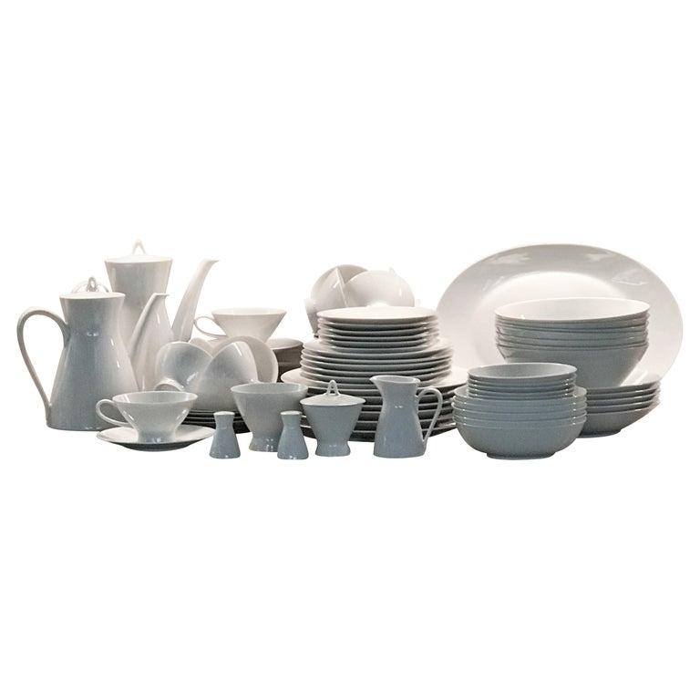 Rosenthal Form 2000 White Pattern Dinnerware - Raymond Loewy Set 70 Pcs Germany For Sale