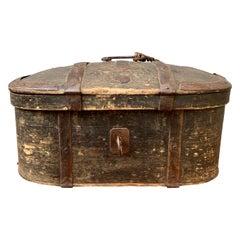 Swedish 18th Century Painted Folk Art Box