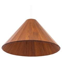 Danish Ceiling Lamp by Cabinetmaker, Solid Teak, Denmark, 1950s
