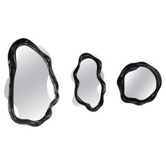 New Set of 3 Mirrors in Resin and Fiberglass Lacquered