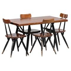 Scandinavian Dining Room Set by Ilmari Tapiovaara 1950s Swedish Design F274