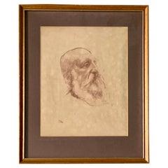 Augustus Edwin John O.M., R.A. (british, 1878-1961) Portrait Bearded Gentleman