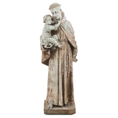 1900s French Saint Anthony Sculpture