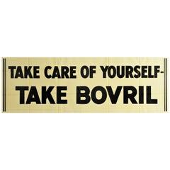 Original Vintage Poster Take Care Of Yourself Take Bovril Beef Soup Drink Food