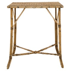 1920s French Rattan Table